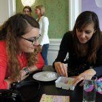 Sassi und Diana beim Poppin Cookin' Workshop