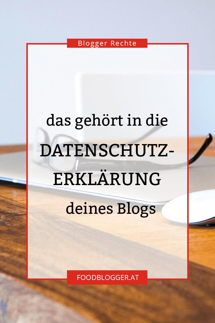 Blogger Rechte: Datenschutzerklärung