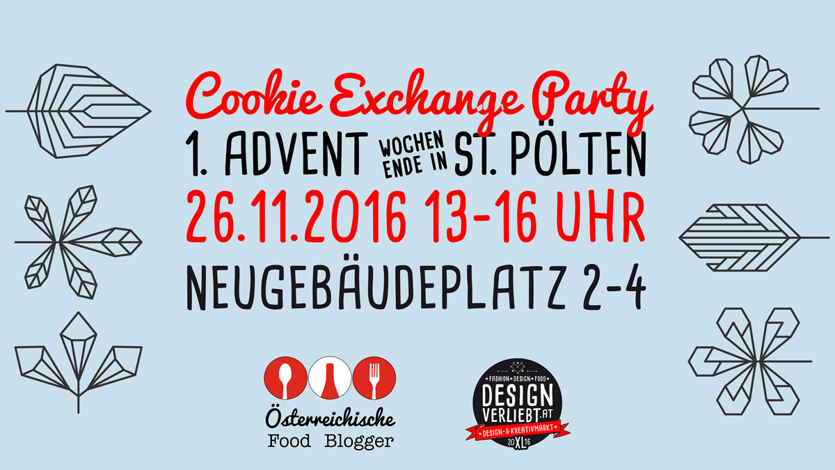 FoodbloggerAT Cookie Exchange Party 2016 - Designverliebt Kreativmarkt XL